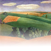 Farm Landscape (Painting) by Grant Wood